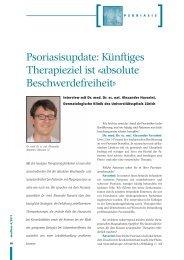 Psoriasisupdate: Künftiges Therapieziel ist «absolute ...