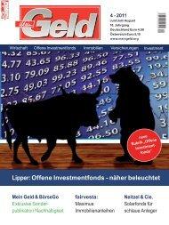 Lipper: Offene Investmentfonds - näher beleuchtet - antea fonds