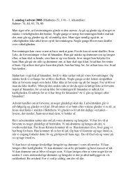 1. søndag i advent 2008 (Matthæus 21, 1-9) - 1 ... - Lumby sogn