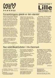 DECEMBER 05 MAGAZINET Forventningens glæde ... - Hiv-Danmark
