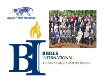 Bibles International - Missions Mandate