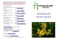 Aktivitetskalender 2013 Marts 2013 - Marts 2014 - Haveselskabet ...