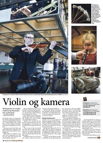 Artikel om musiker og fotograf Ulf Jeppesen og havearkitekt Birgit ...