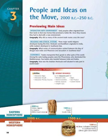 People and ideas on the move, 2000 b. c.-250 b. c. - previewing - First