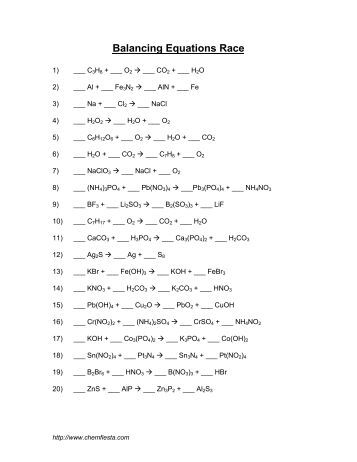 Worksheets Writing Skeleton Equations Worksheet With Answers 1 4 worksheet 2 balancing skeleton formula equations ch pdf race