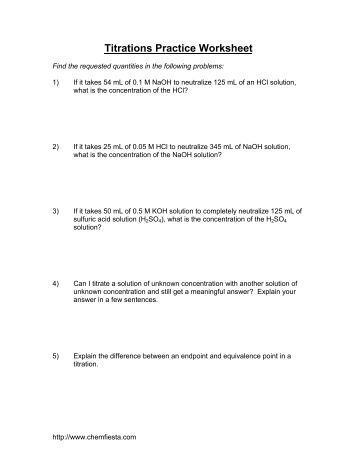 titration calculations worksheet worksheets whenjewswerefunny free printable worksheets and. Black Bedroom Furniture Sets. Home Design Ideas