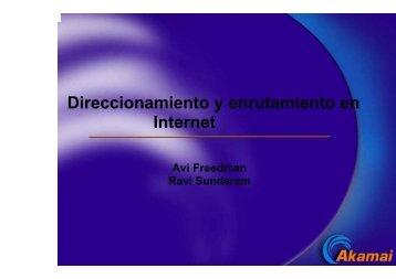 Direccionamiento y enrutamiento en Internet