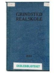 SKOLEBIBLIOTEKET - Grindsted Kost –og Realskoles Elevforening