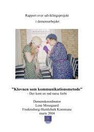 """Klovnen som kommunikationsmetode"""" - Ergoterapeut Birgitte ..."""