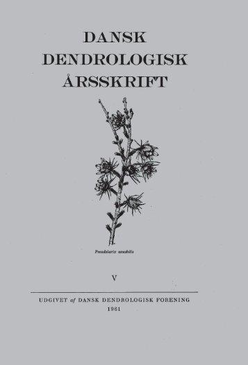Volume 1,5 (1961) - Dansk Dendrologisk Forening