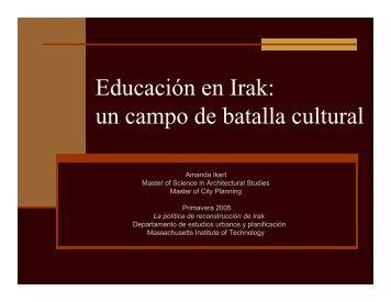 Educación en Irak: un campo de batalla cultural