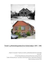 Tekstil- og Beklædningsindustriens Kulturmiljøer 1870 – 1990