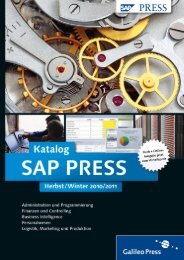 Praxishandbuch Sap-Administration - Galileo Computing