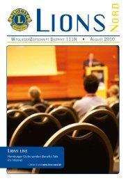 LIONS NORD Ausgabe August 2010 - Mitgliederzeitschrift.lions ...