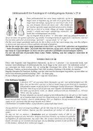 1. afsnit - Foreningen til violinbygningens fremme