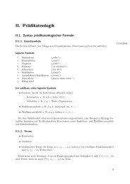 II. Prädikatenlogik