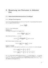 II. Bewertung von Derivaten in diskreter Zeit