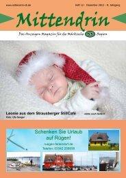 Ausgabe Dezember 2012 - mittendrin-s5.de