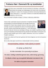 Program for JANUAR 2013 - Frelsens Hær i Aarhus - FORSIDE
