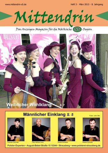 Ausgabe März 2013 - mittendrin-s5.de