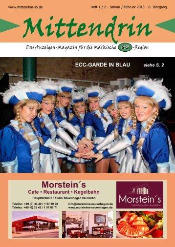 Ausgabe Januar/Februar 2013 - mittendrin-s5.de