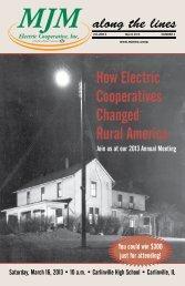 March 2013 - MJM Electric Cooperative