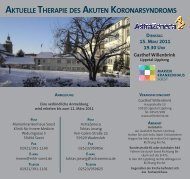 aktuelle therapie des akuten koronarsyndroms - Marienkrankenhaus ...