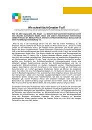 Wie schnell läuft Gevatter Tod - Marienkrankenhaus Soest ...