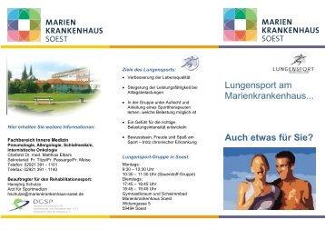 Lungensport-Flyer - Marienkrankenhaus Soest