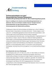 Schmerz-Symposium - Marienkrankenhaus Soest - Katholischer ...