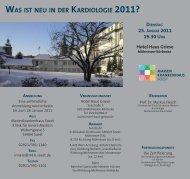 WAS IST NEU IN DER KARDIOLOGIE 2011? - Marienkrankenhaus ...