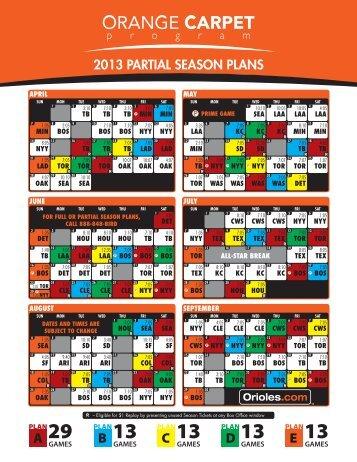 2013 PARTIAL SEASON PLANS - MLB.com