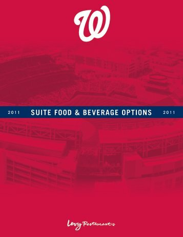 SUITE FOOD & BEVERAGE OPTIONS - MLB.com