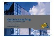Hauptversammlung 2007 Gewinn- und Verlustrechnung ... - Anzag