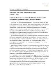 Ny regering - og ny styring af den offentlige sektor - Christian S. Nissen