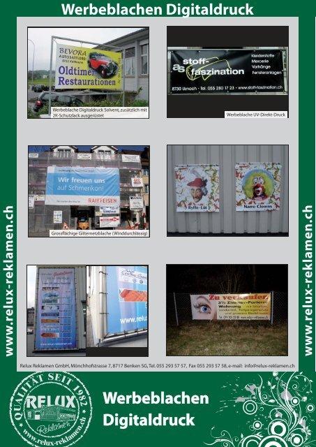Werbeblachen Digitaldruck