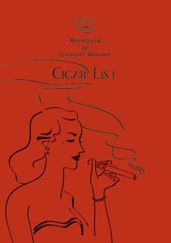 Cigar List Download PDF - Boisdale of Canary Wharf
