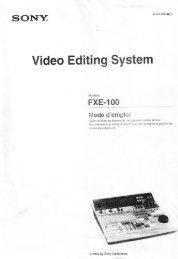 Sony-FXE100 Manual