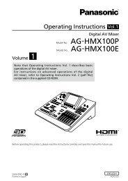 AG-HMX100P AG-HMX100E - Panasonic