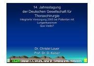 14. Jahrestagung der Deutschen Gesellschaft für Thoraxchirurgie