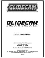 Glidecam SmoothShooter Manual - Hollywood Studio Rentals