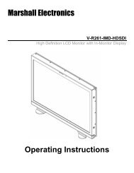 V-R261-IMD-HDSDI Operating Instructions v1[1] - Marshall Electronics