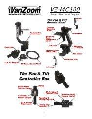 Varizoom VZ-MC100 Manual - Hollywood Studio Rentals