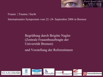 Dr. Stephanie Covington - Mobile Lecture Uni Bremen - Universität ...