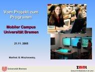 Folien in PDF-Format - Mobile Lecture Uni Bremen - Universität ...