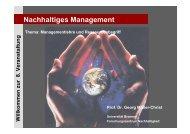 Nachhaltiges Management - Mobile Lecture Uni Bremen ...