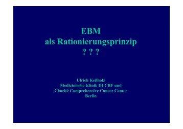 EBM als Rationierungsprinzip ??? - Mobile Lecture Uni Bremen