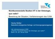 IIT in der Onkologie, quo vadis? - Mobile Lecture Uni Bremen