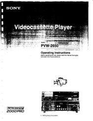 Sony Pvw-2650 Manual