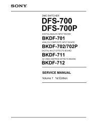 Sony DFS-700 Switcher Manual